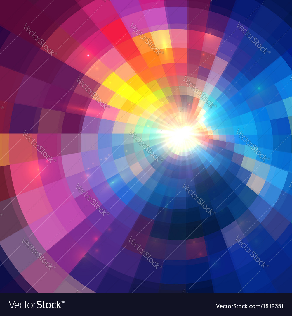 Abstract colorful shining circle tunnel background vector | Price: 1 Credit (USD $1)