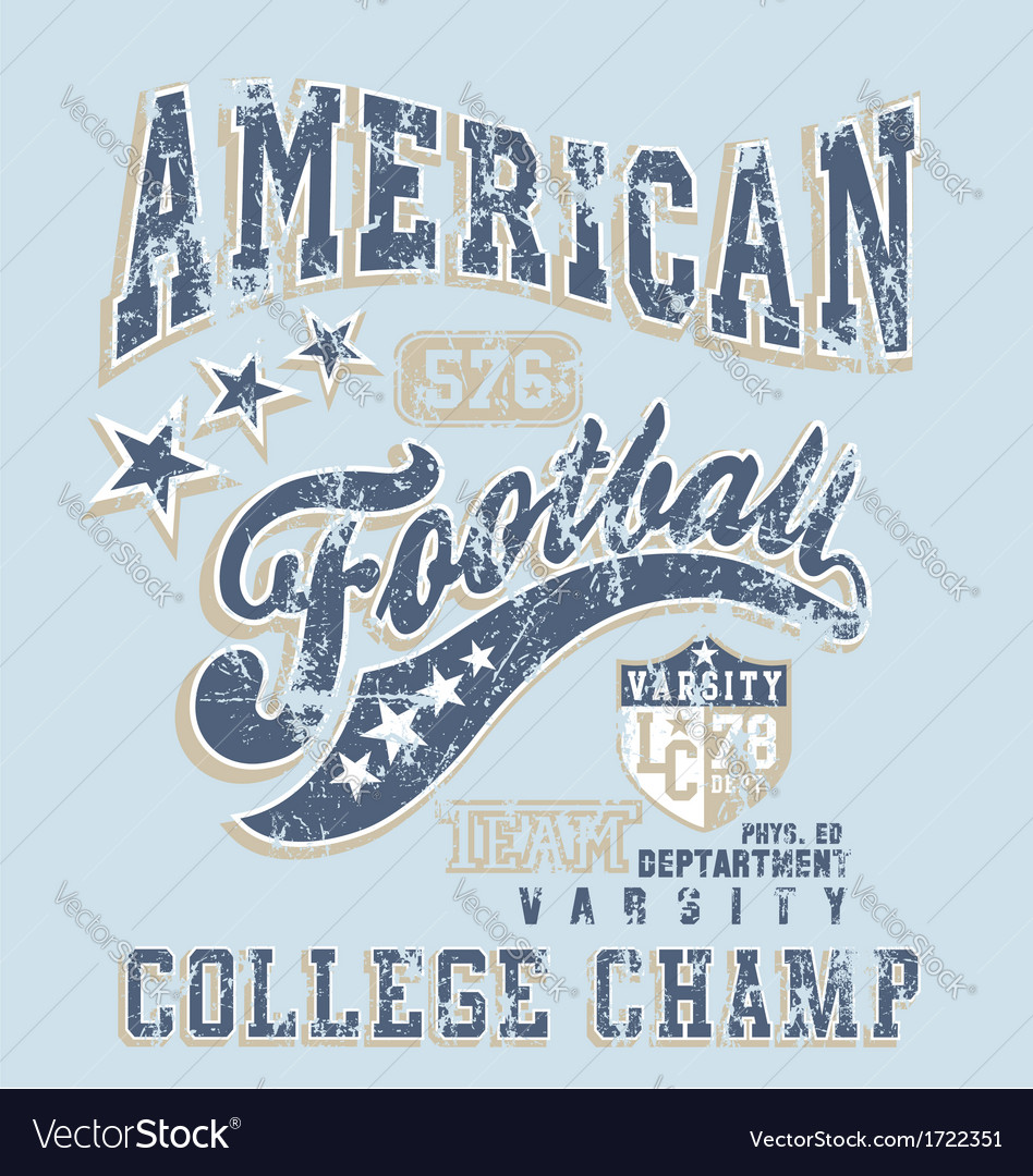 American football college champ crack vector | Price: 1 Credit (USD $1)