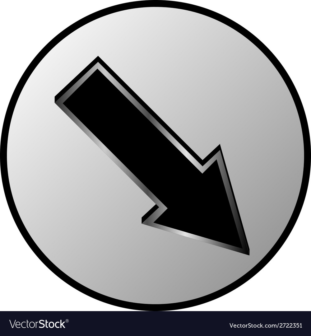 Arrow sign button vector | Price: 1 Credit (USD $1)