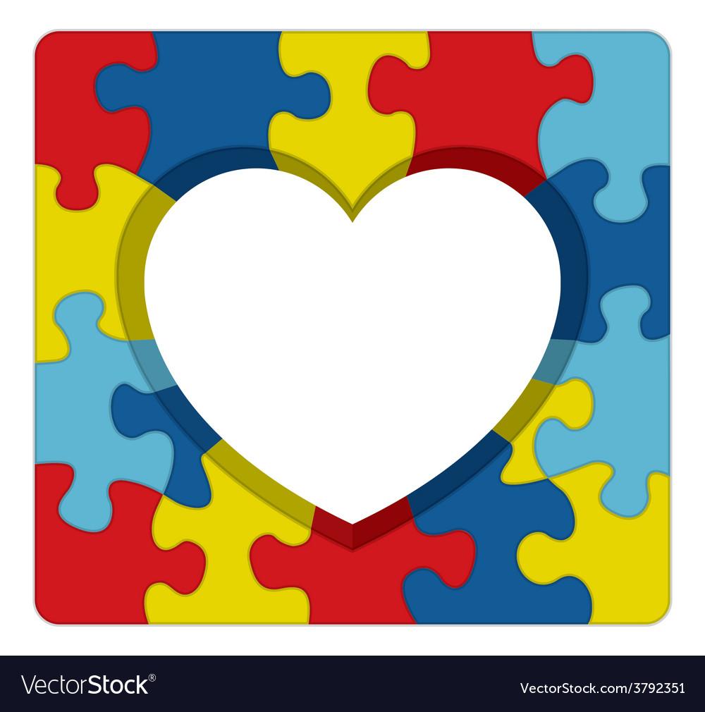 Autism awareness heart puzzle vector | Price: 1 Credit (USD $1)