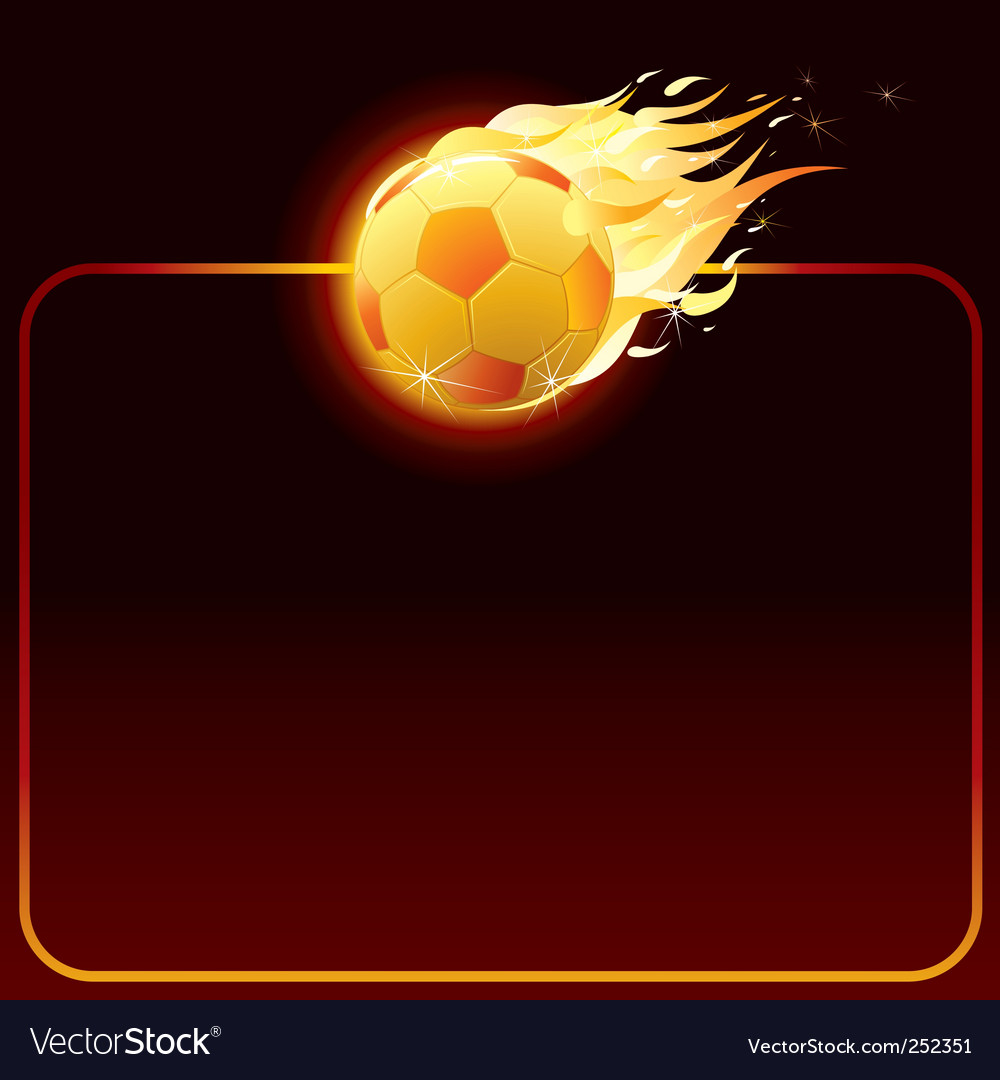 Fiery soccer ball vector | Price: 3 Credit (USD $3)
