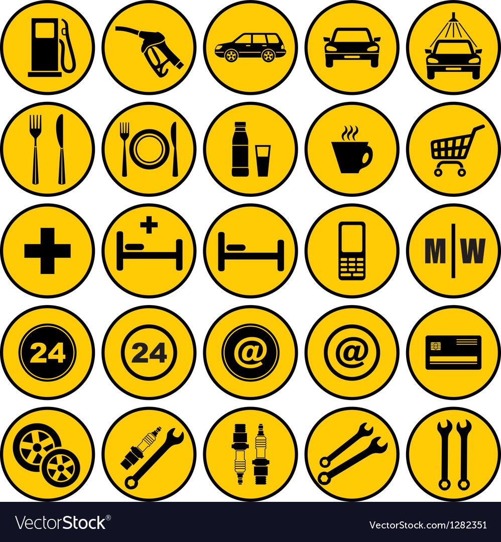 Gas station icons vector | Price: 1 Credit (USD $1)