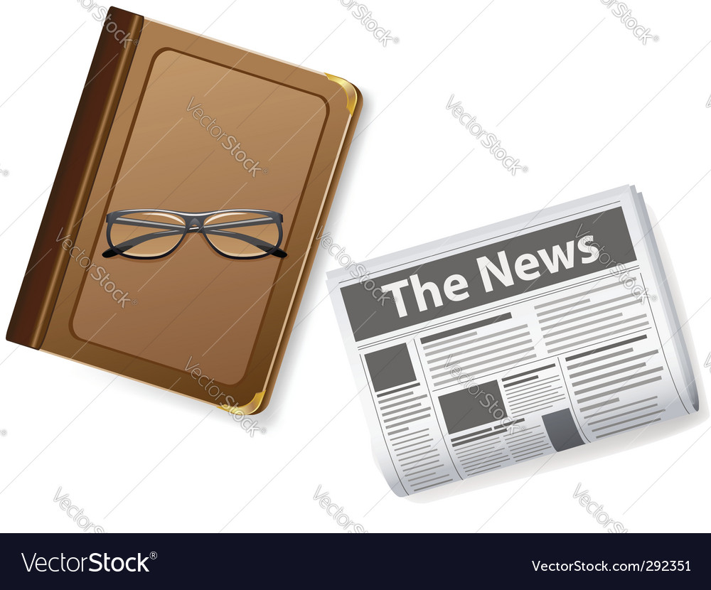 Glasses and newspaper vector | Price: 3 Credit (USD $3)