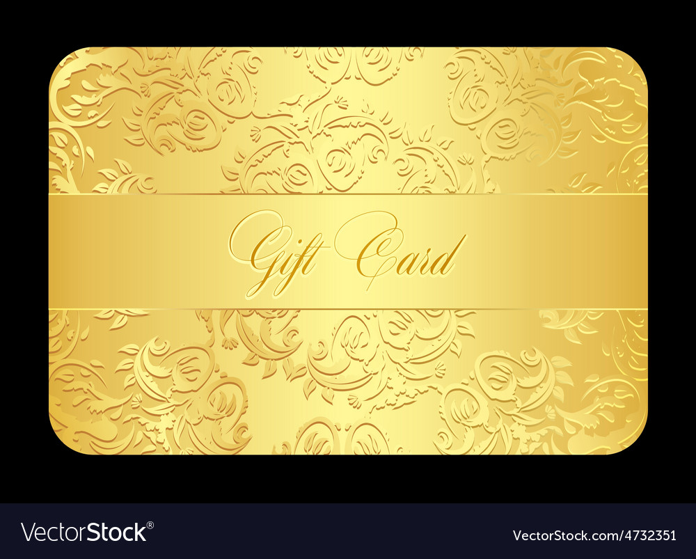 Luxury golden gift card with rounded lace vector | Price: 1 Credit (USD $1)
