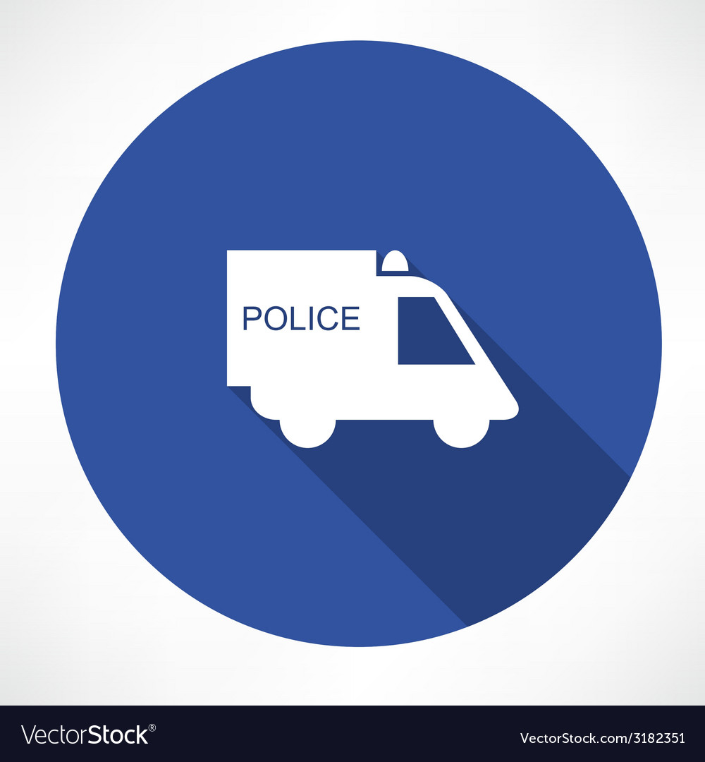 Police car icon vector | Price: 1 Credit (USD $1)