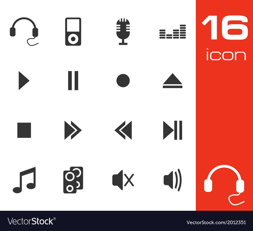 Sound icons set vector   Price: 1 Credit (USD $1)