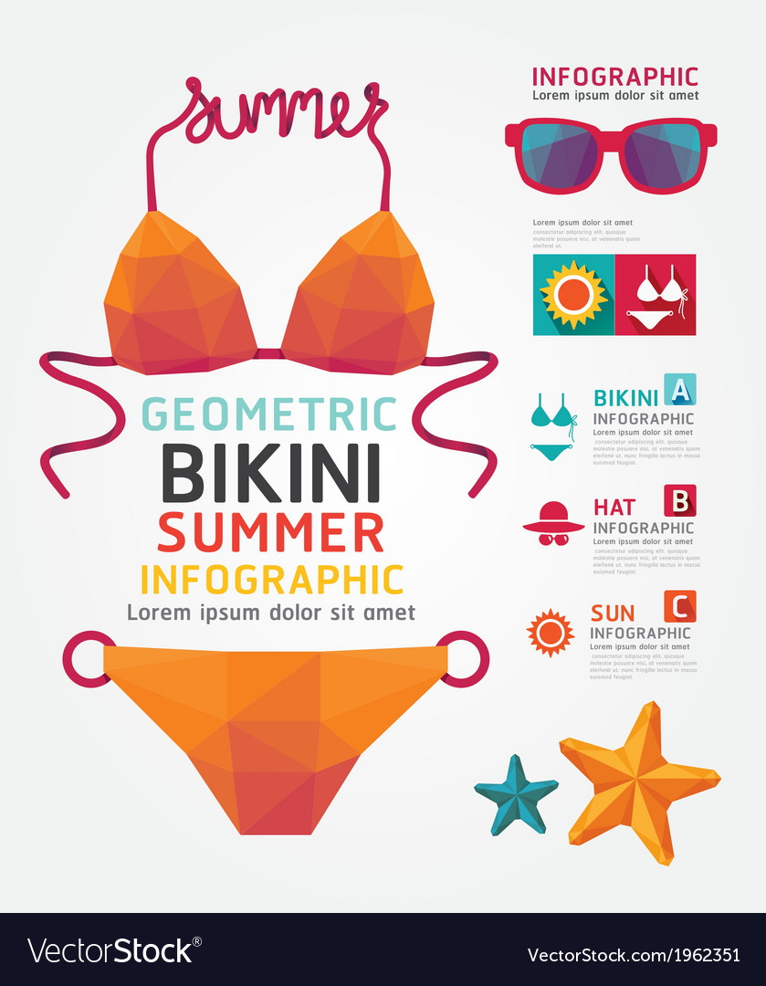 Summer infographic geometric concept design colour vector | Price: 1 Credit (USD $1)