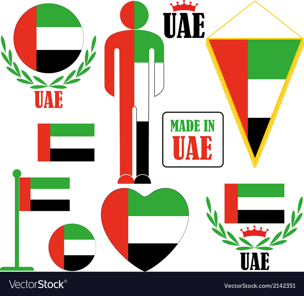 United arab emirates vector | Price: 1 Credit (USD $1)