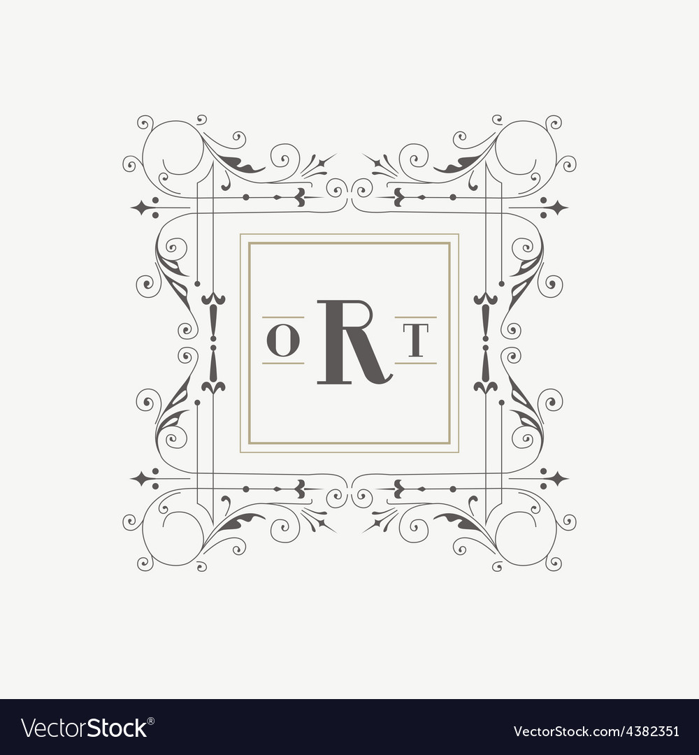 Vintage frame - monogram or calligraphic design vector | Price: 1 Credit (USD $1)