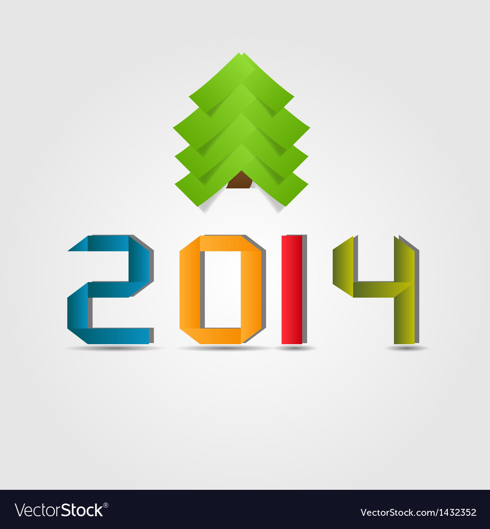 2014 beauty christmas and new year background vector | Price: 1 Credit (USD $1)