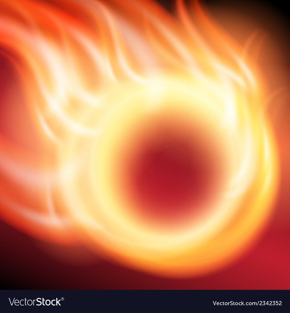 Abstract background with ring of fire vector | Price: 1 Credit (USD $1)