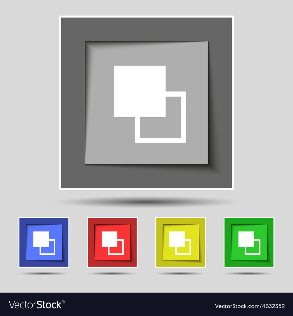 Active color toolbar icon sign on the original vector | Price: 1 Credit (USD $1)