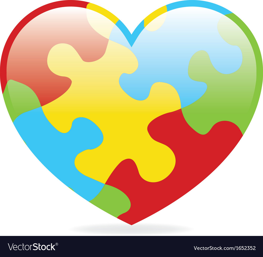 Autism heart vector | Price: 1 Credit (USD $1)