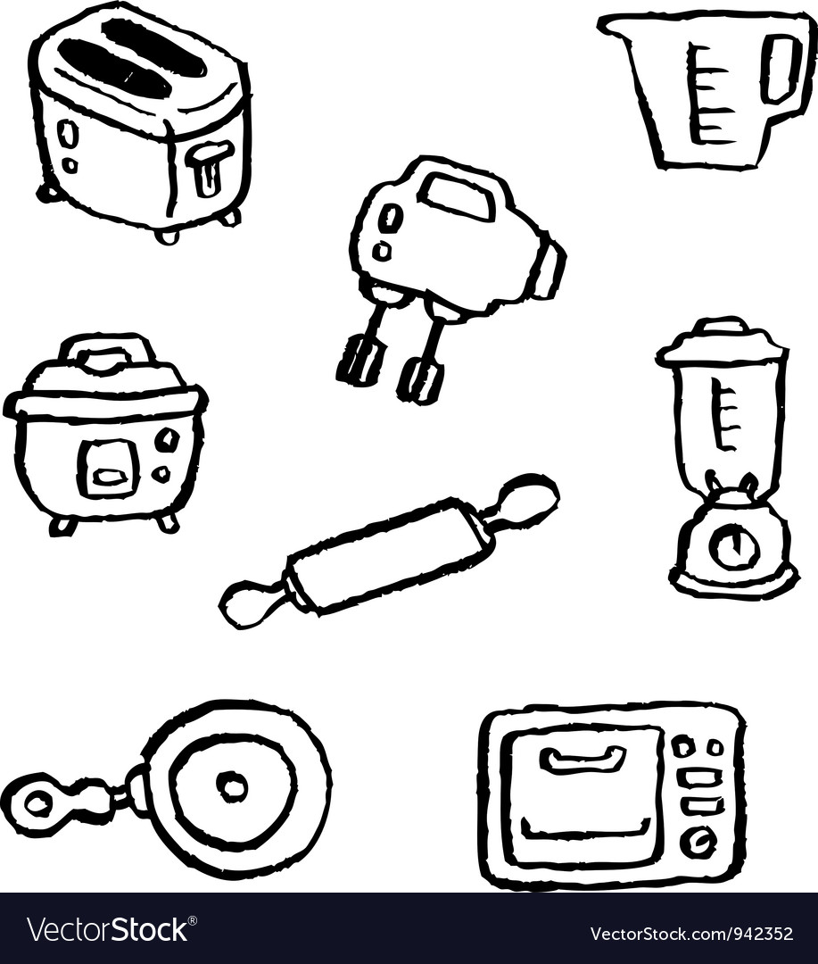 Doodle series kitchenappliance vector | Price: 1 Credit (USD $1)