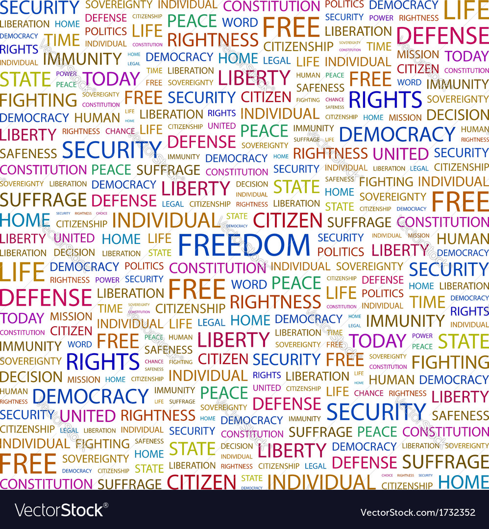 Freedom vector | Price: 1 Credit (USD $1)