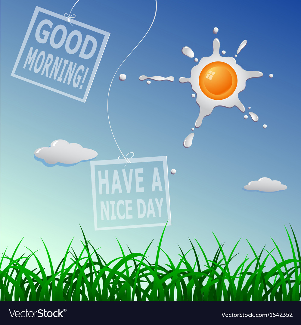 Good morning card vector | Price: 1 Credit (USD $1)