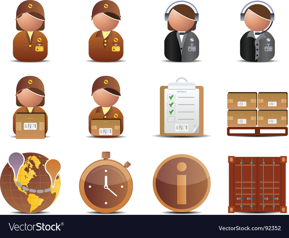 Logistics and delivery icons vector   Price: 1 Credit (USD $1)