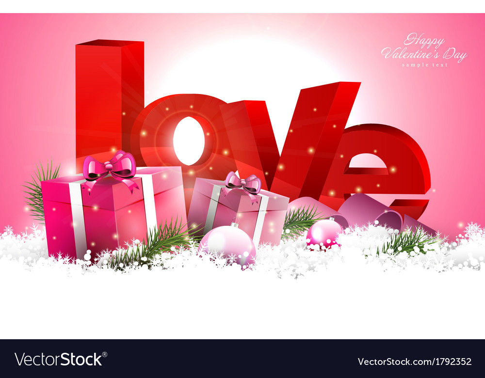 Pink valentine day background vector | Price: 1 Credit (USD $1)