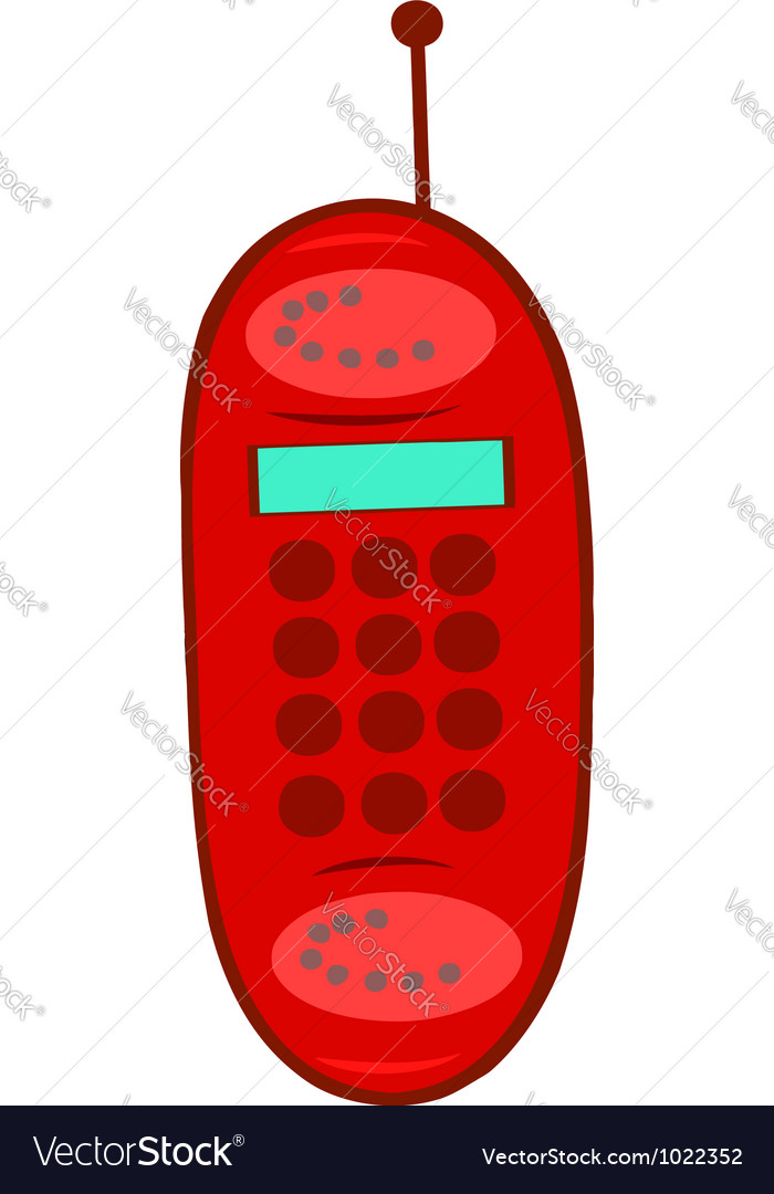 Red cell phone vector | Price: 1 Credit (USD $1)