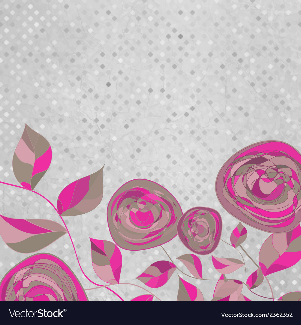 Romantic floral with vintage roses eps 8 vector | Price: 1 Credit (USD $1)