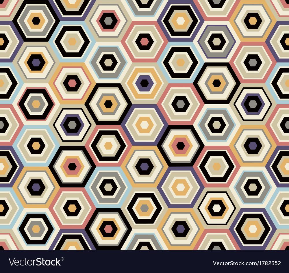 Seamless hexagon geometric pattern vector | Price: 1 Credit (USD $1)