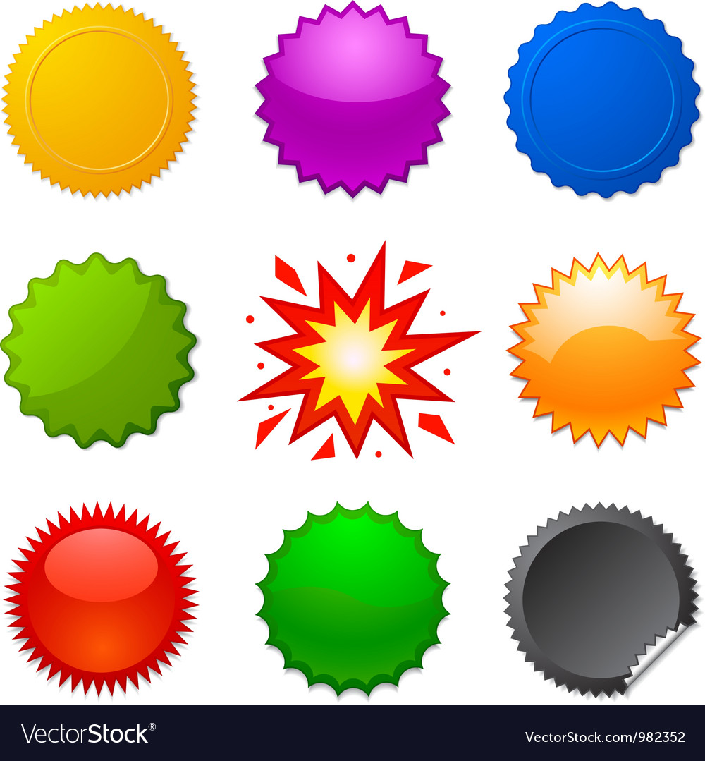 Starburst seals vector | Price: 1 Credit (USD $1)