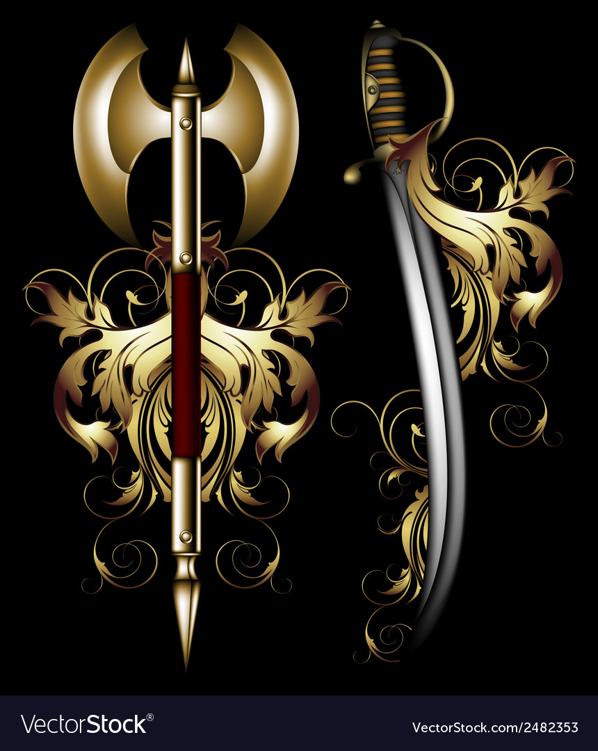 Ancient ornate arms vector | Price: 3 Credit (USD $3)
