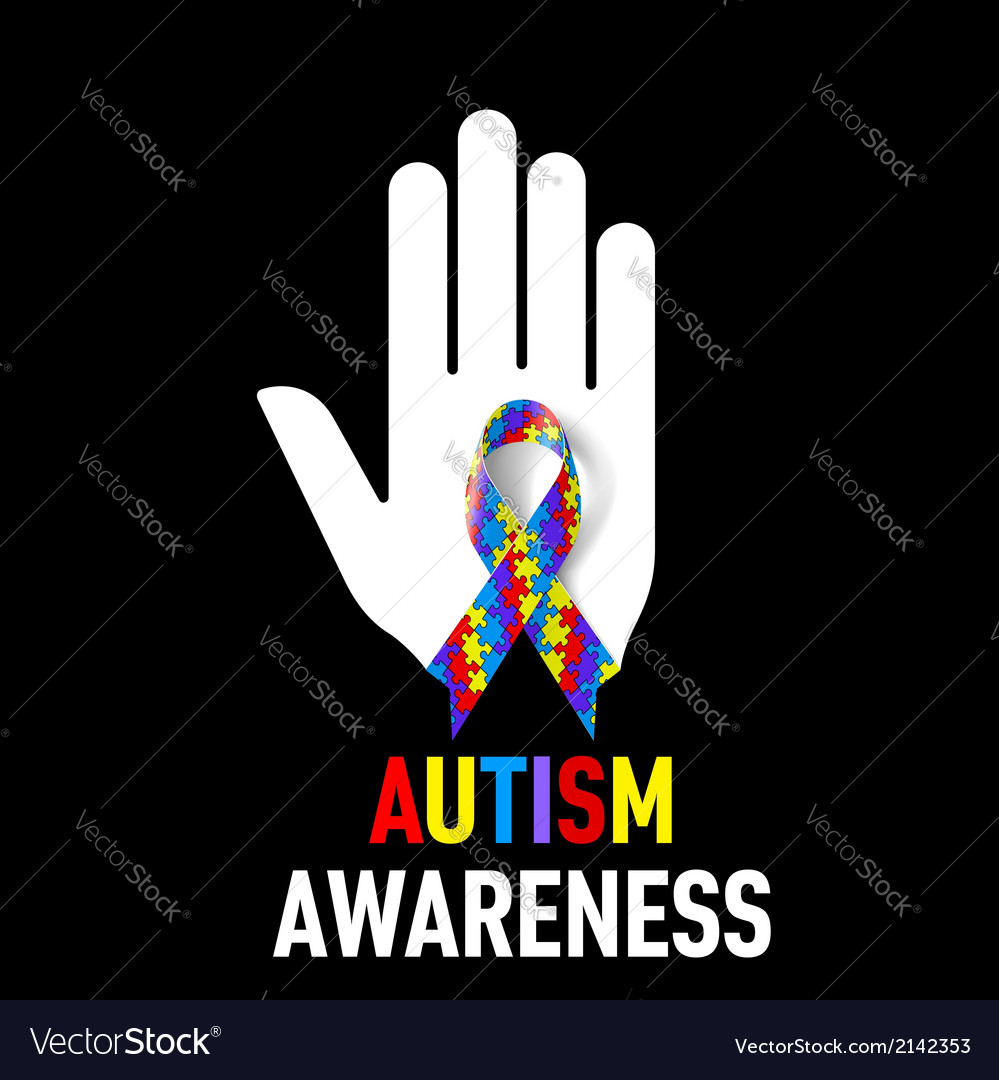 Autism awareness sign vector | Price: 1 Credit (USD $1)