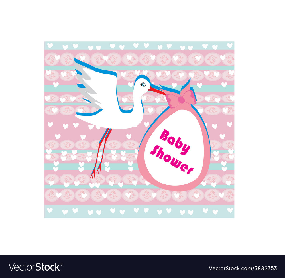 Baby shower greeting card vector | Price: 1 Credit (USD $1)