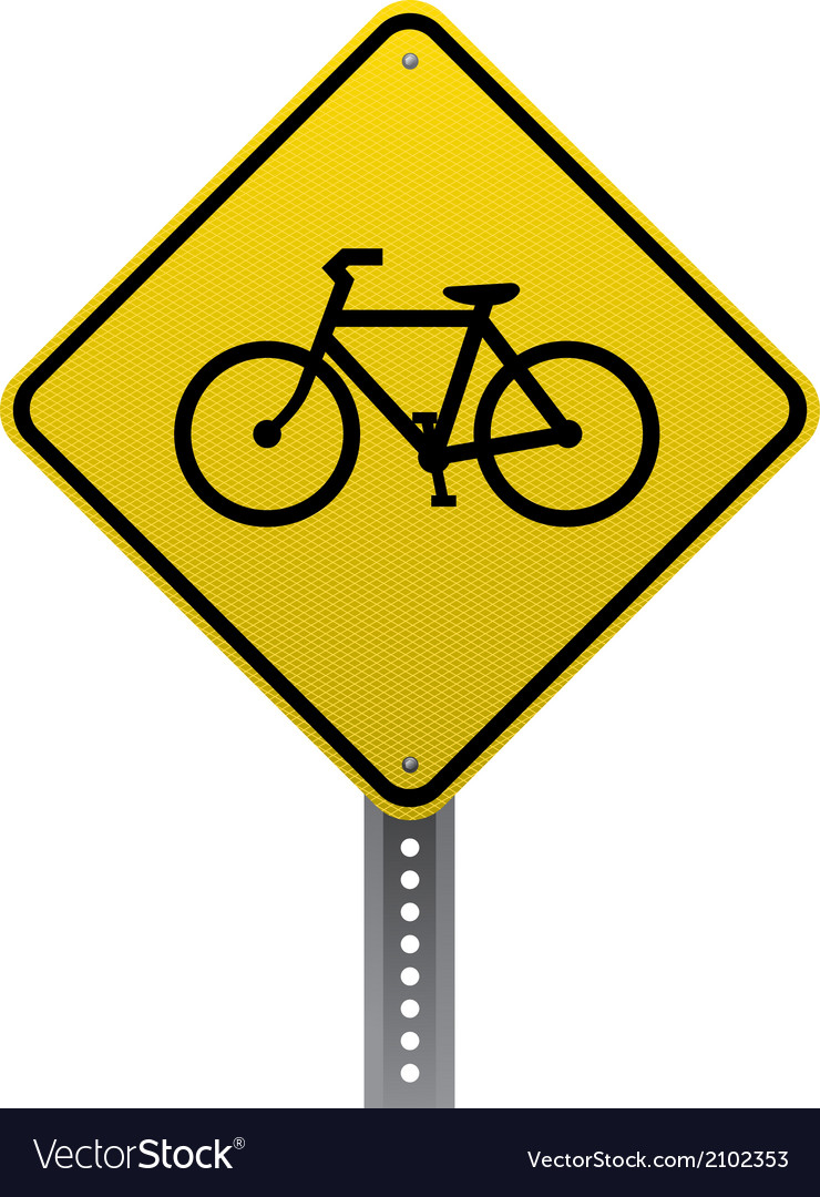Bicycle crossing sign vector | Price: 1 Credit (USD $1)