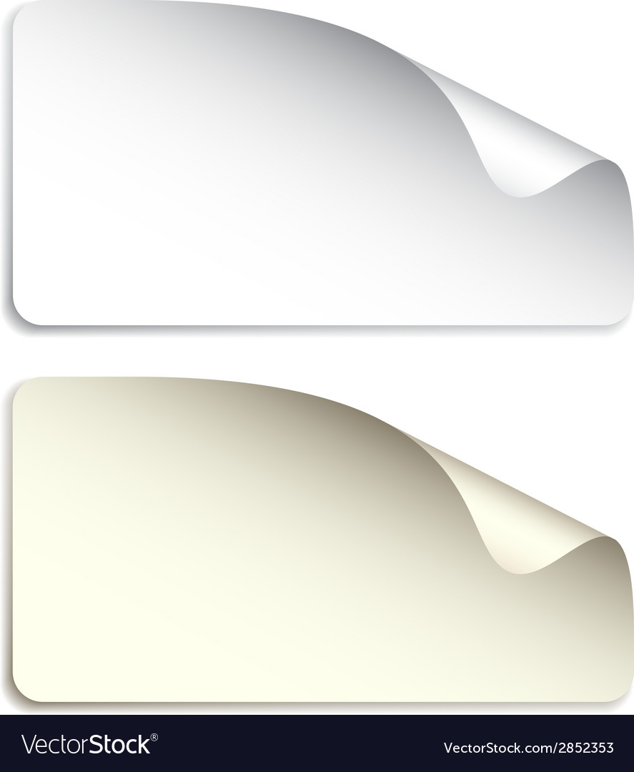 Blank stickers vector | Price: 1 Credit (USD $1)