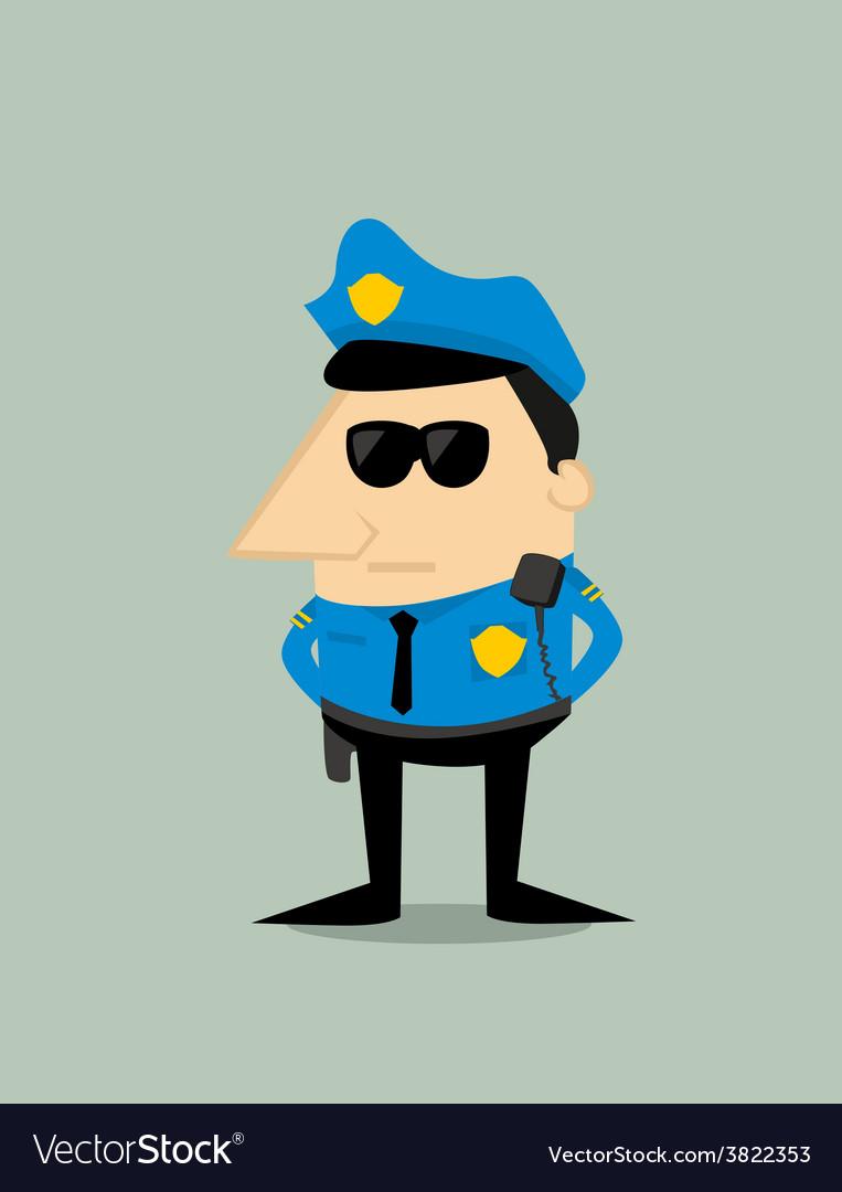 Cartoon plice officer vector | Price: 1 Credit (USD $1)