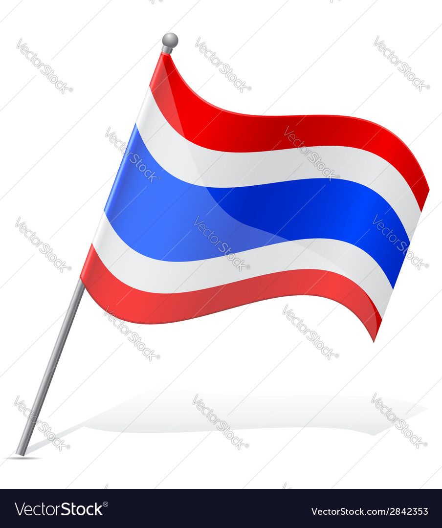 Flag of thailand vector   Price: 1 Credit (USD $1)