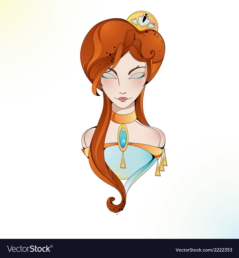Glass lady vector | Price: 1 Credit (USD $1)