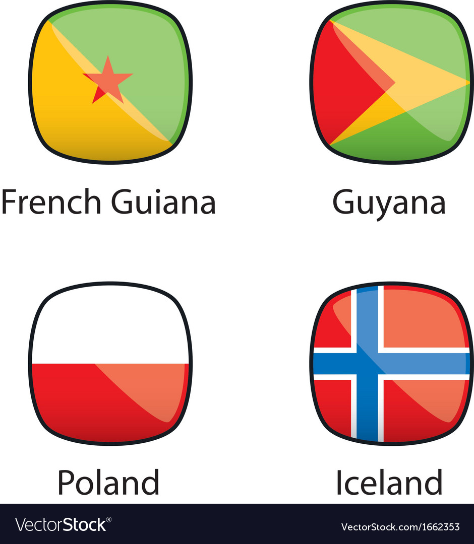 International flags buttons sample vector | Price: 1 Credit (USD $1)
