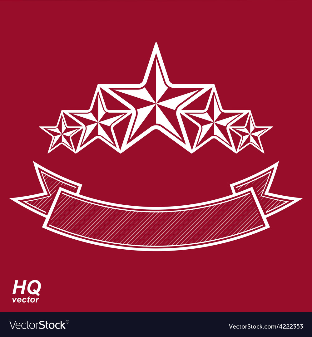 Monarch symbol festive graphic emblem with five vector | Price: 1 Credit (USD $1)