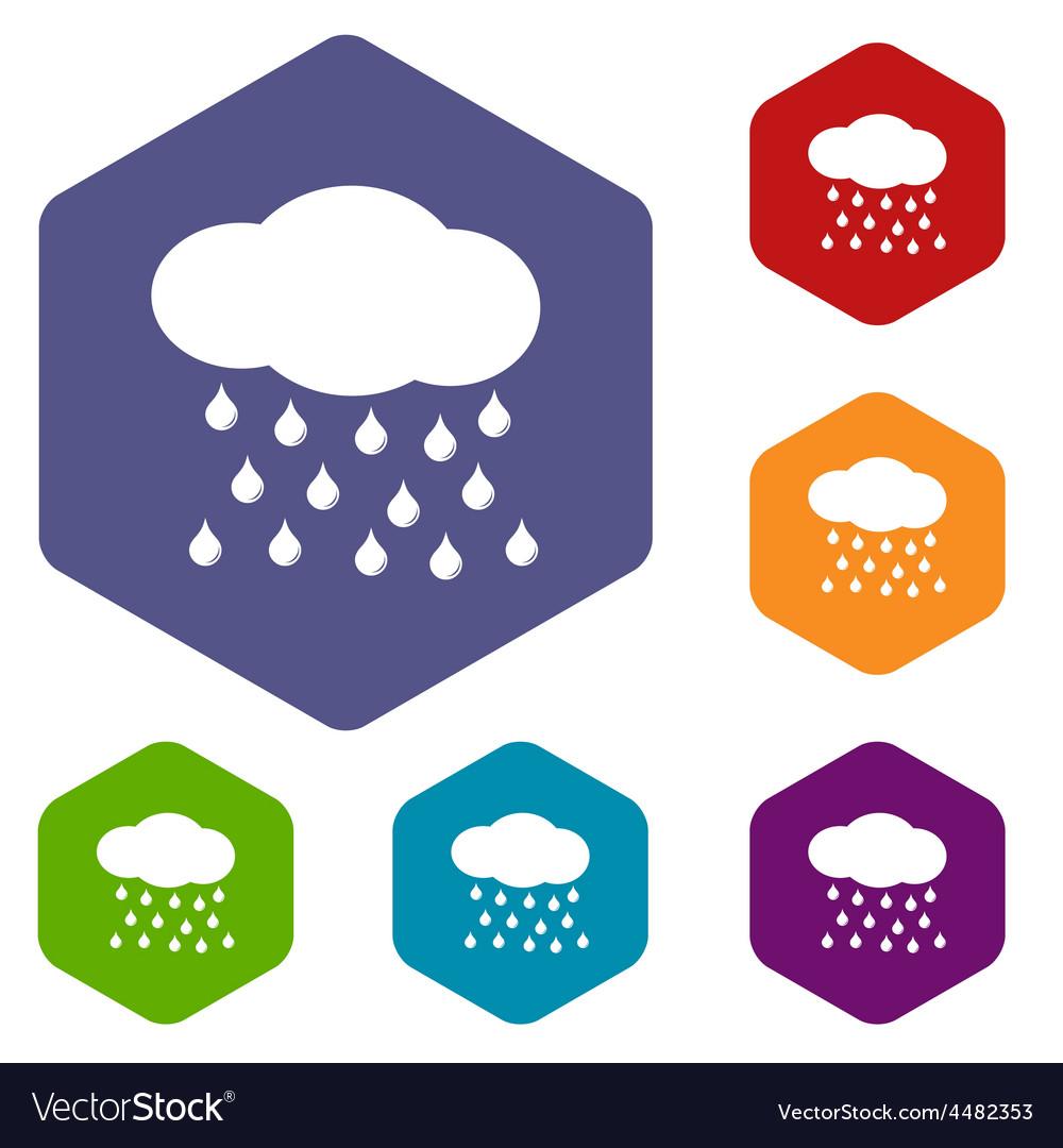 Rain rhombus icons vector | Price: 1 Credit (USD $1)