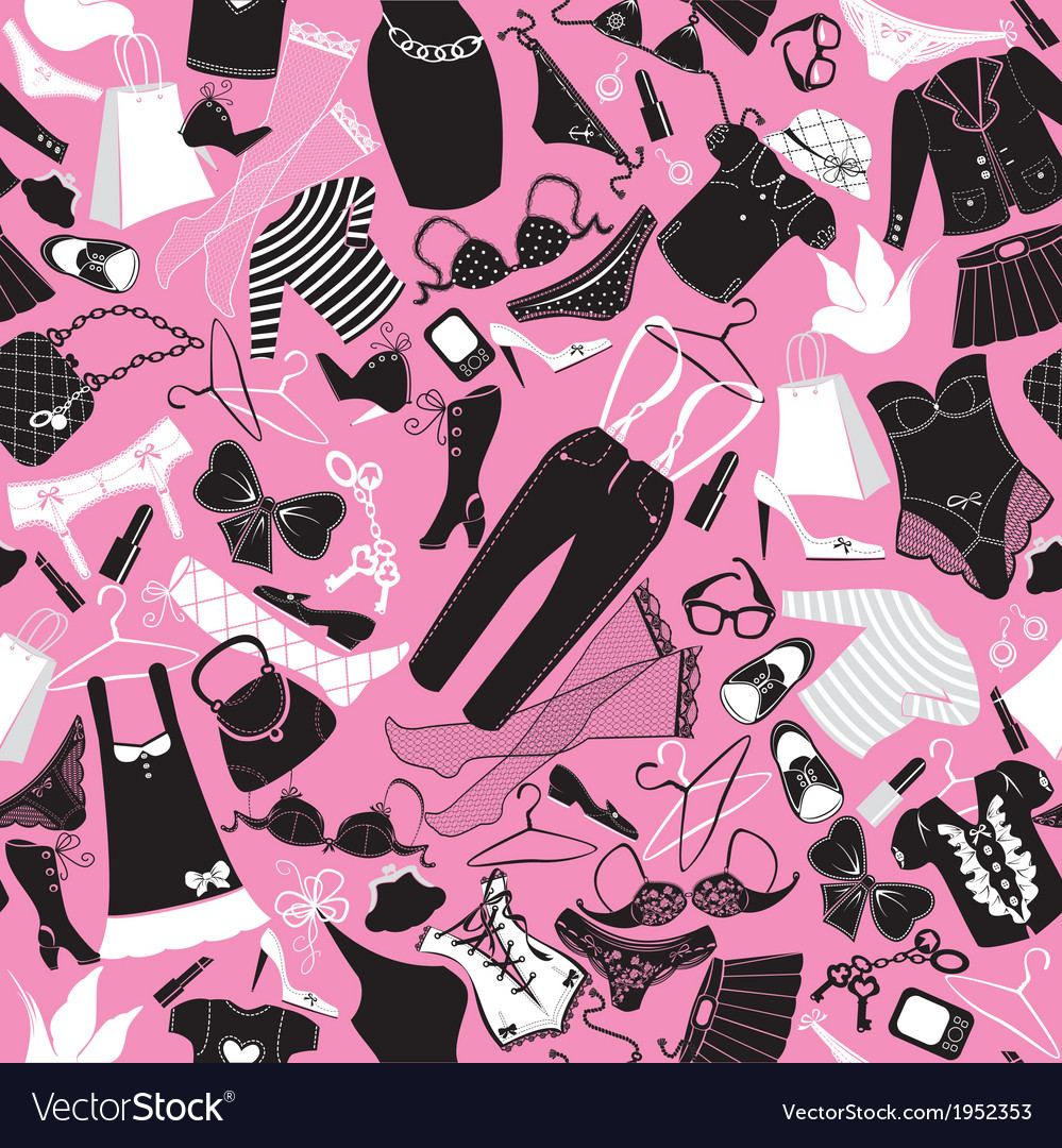 Seamless pattern for fashion design - silhouettes vector | Price: 1 Credit (USD $1)