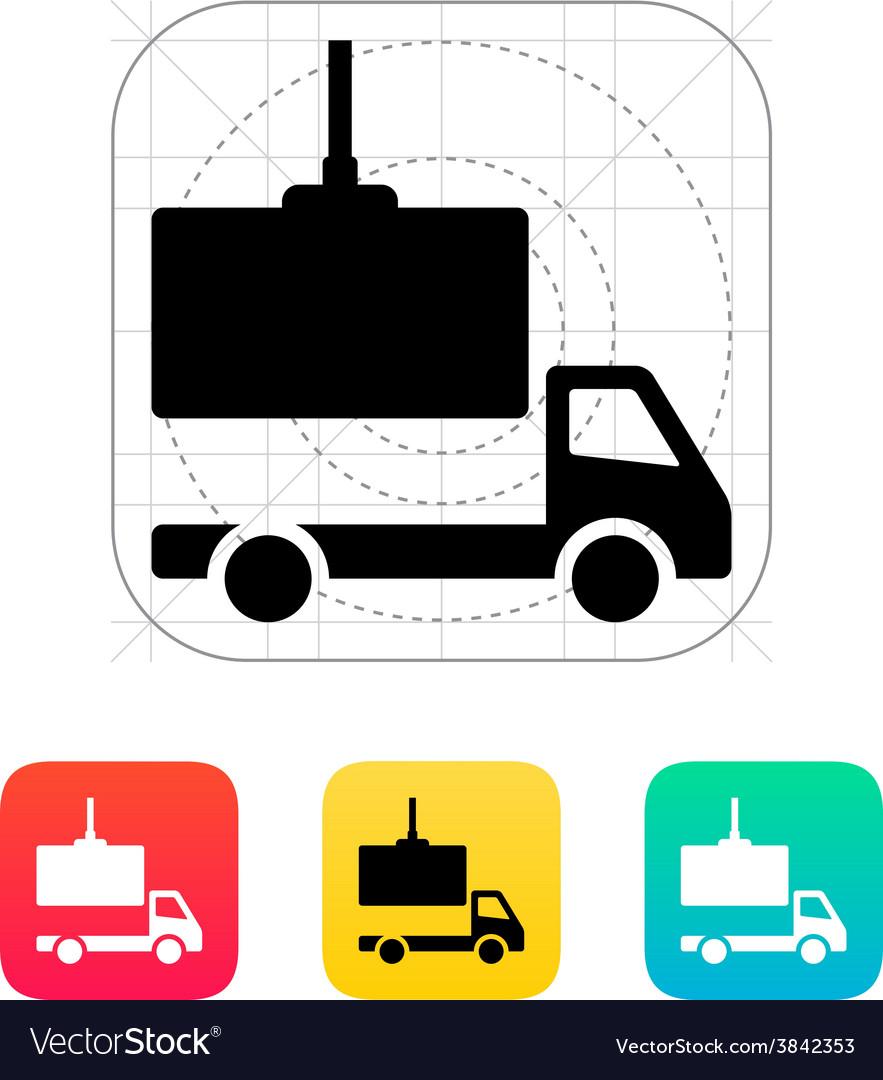 Truck loading icon vector | Price: 1 Credit (USD $1)