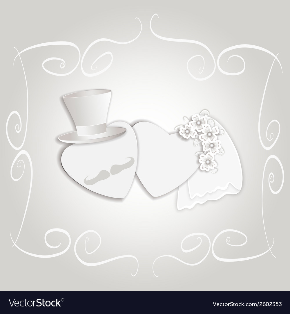 Wedding heart vintage vector | Price: 1 Credit (USD $1)