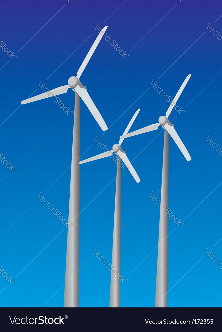 Wind power plants vector | Price: 1 Credit (USD $1)