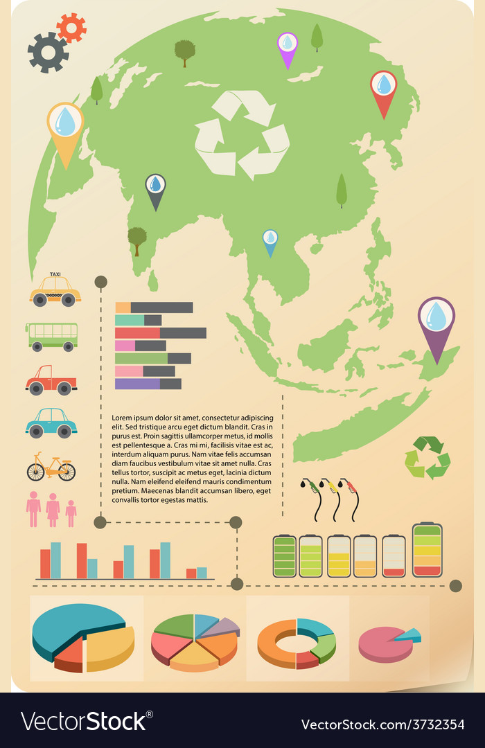 An infographics of the earth vector | Price: 1 Credit (USD $1)