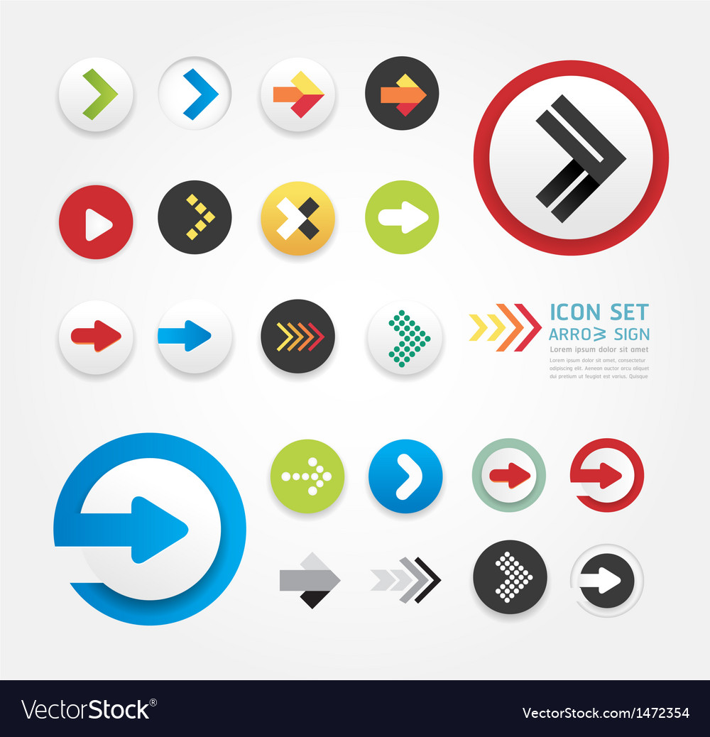 Arrow icons design set vector | Price: 1 Credit (USD $1)