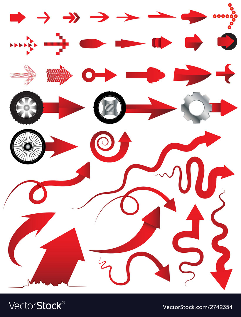 Arrows collection multiple style can vector | Price: 1 Credit (USD $1)
