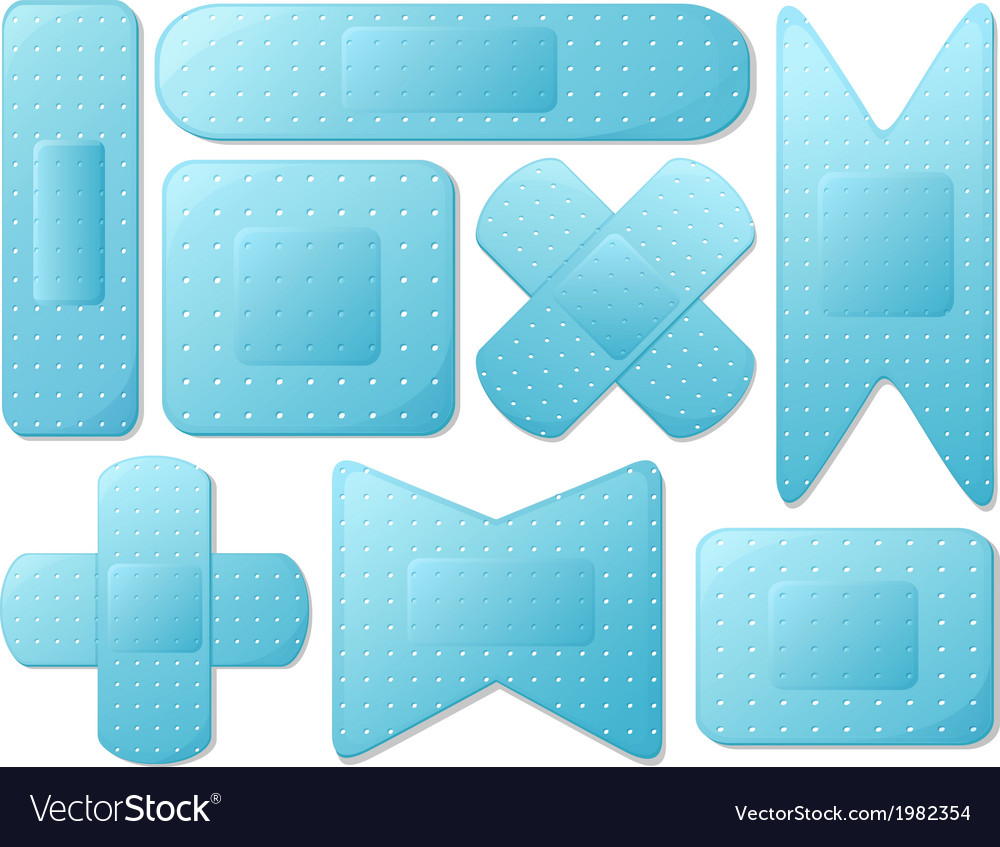 Blue plasters vector | Price: 1 Credit (USD $1)