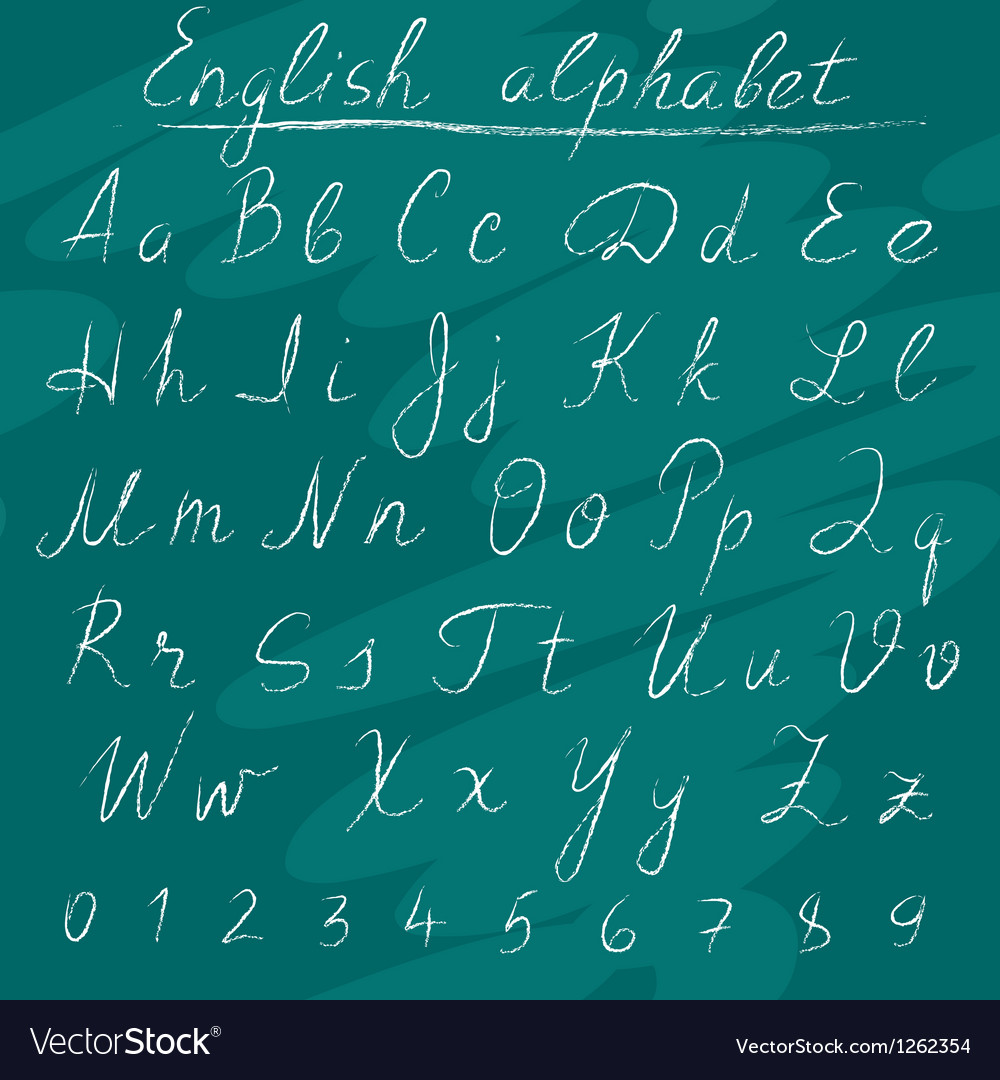 Chalk english alphabet vector | Price: 1 Credit (USD $1)