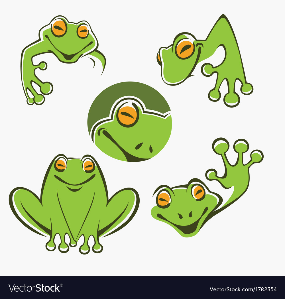 Frogs collection vector | Price: 1 Credit (USD $1)