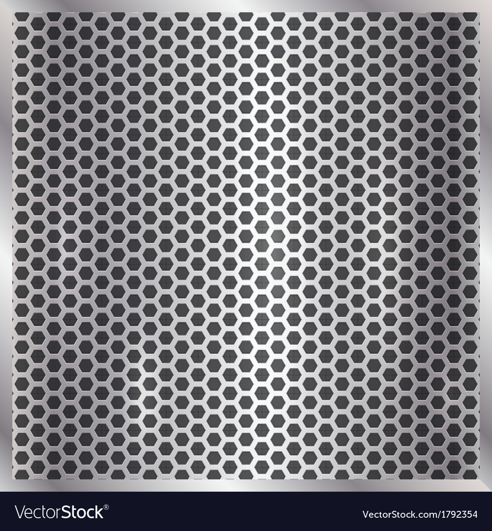 Metallic silver cell background vector | Price: 1 Credit (USD $1)