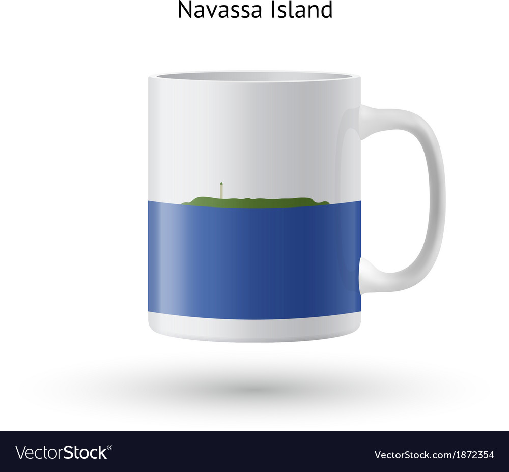 Navassa island flag souvenir mug on white vector | Price: 1 Credit (USD $1)