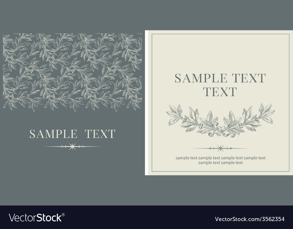 Set of invitations vector | Price: 1 Credit (USD $1)